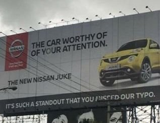 Nissan used a typo in its latest Ad, and it's gone viral!