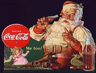 Coca Cola and the modern day Santa!